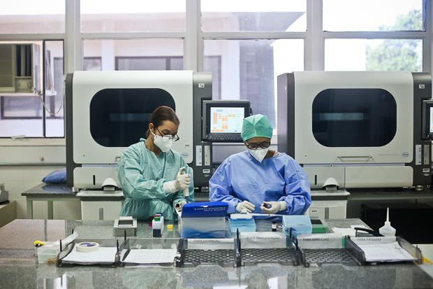 Com apoio interinstitucional, Lacen ampliou capacidade de diagnósticos de testes para Covid-19. Agora podem ser realizados até mil diagnósticos por dia.